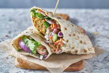 Vegan Food- Tasty Falafel Wrap...