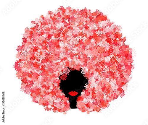 Afro Flower Wallpaper Mural
