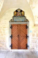 Tür Im Wandergang Des Kloster Pforta