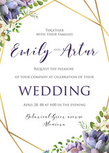Wedding Floral Invitation, Inv...