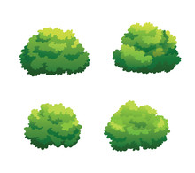 Tree For Cartoon Isolated On W...