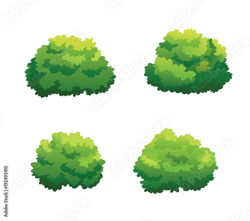 tree for cartoon isolated on white background Canvas Print