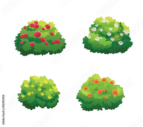 Photo tree for cartoon isolated on white background