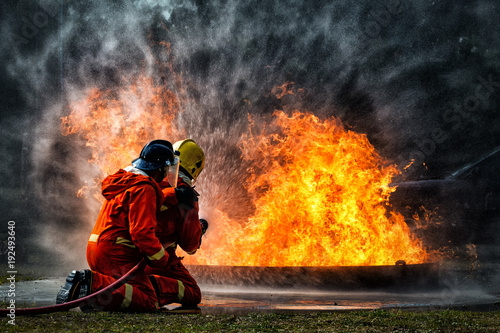Photographie firefighter training