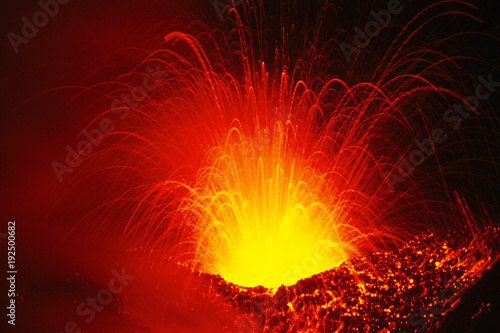 Staande foto Vulkaan Etna, Fontana di lava