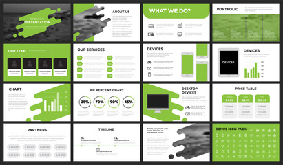 Modern Minimalist Green Presentation Template. You can use it presentation, flyer and leaflet, corporate report, marketing, pitch, annual report, catalog.