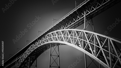 In de dag Brug Old iron bridge