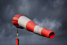 Windsock And Stormy Sky - Storm Warning