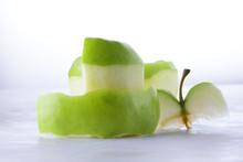 Green Peeled Apple, Apple Skin...