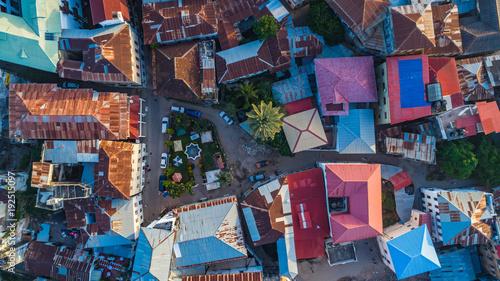Printed kitchen splashbacks Zanzibar Aerial. Stone town, Zanzibar, Tanzania.