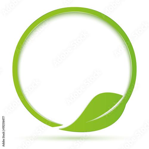 Valokuva  Ecologia simbolo cerchio con foglia