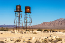 Rusty Water Tank In Death Vall...