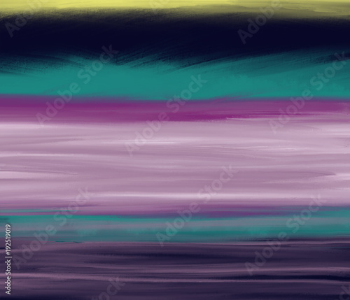 Colorful Hand Drawn Bright Abstract Space Theme As Sky On
