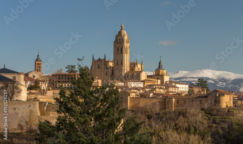 Cathedral of Segovia, Spain, view over the city.