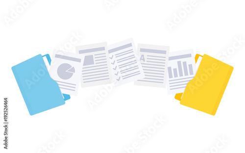 Fototapeta Files transfer. Copy files, data exchange, backup.