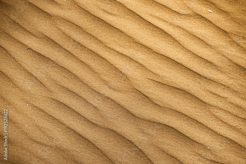 Close-up of ripples in the sand