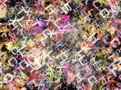 abstract multicolored alphabet letters background © Mikhail Ulyannikov