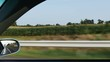 2052 Driving on Highway in Car looking at the Rear View Mirror, 4K