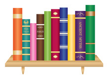 Wooden Book Shelf With Old And...