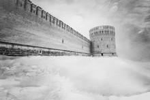 The Dark Gray Fortress Wall In...
