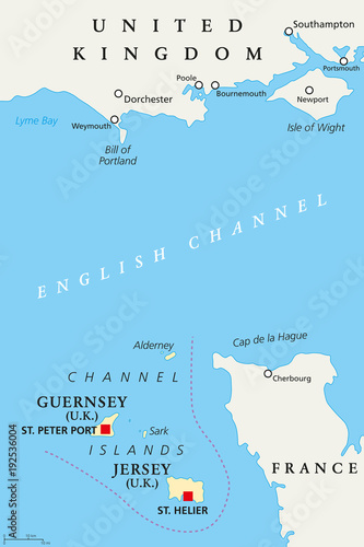 Map Of France Coast.Channel Islands Political Map Crown Dependencies Bailiwick Of
