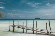 Wooden Pier On The Beach Of Ko...
