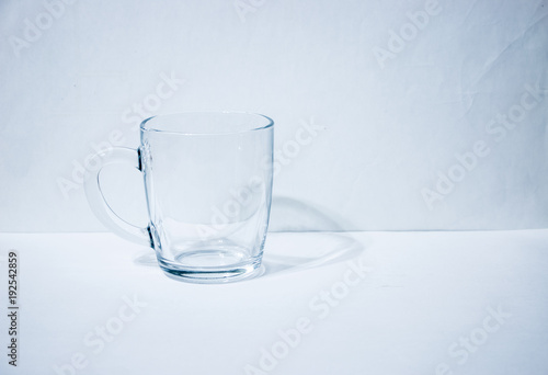 Fotografia, Obraz  One empty glass beaker