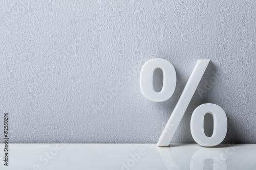 Fotografía  Close-up Of A Percentage Sign
