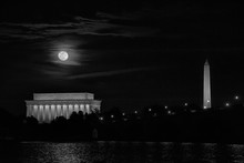 Full Moon Over Washington DC