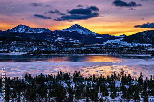 Tuinposter Bergen Sunrise in Breckenridge, Colorado