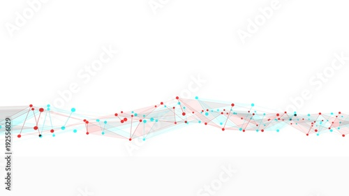 Concept of networks, technology or business Wallpaper Mural