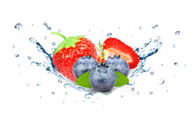 Strawberry And Blueberry Water...