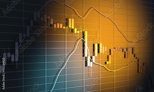 forex candlestick pattern  trading chart concept  financial market chart   3d rendering