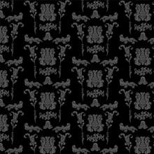 Patrón De Decoración Victoriana Floral