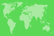 canvas print picture - green world map, isolated