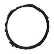 Gemalter schwarzer Pinsel Kreis