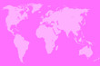 canvas print picture - pink world map, isolated