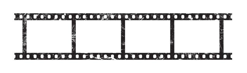 Six frames of 35 mm film strip