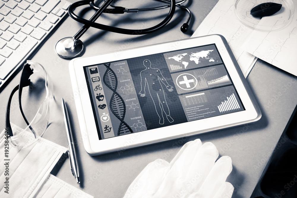 Fototapeta Digital technologies in medicine