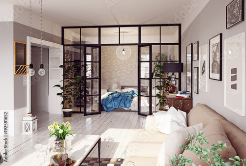 Obraz na plátně modern apartment interior.