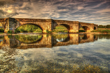 HDR View Of Grassington Bridge...