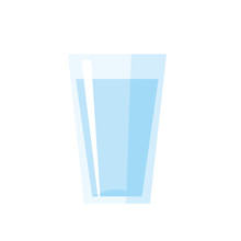 Glass Of Water Vector Illustra...