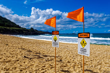 Hawaii Warning Signs On The Be...