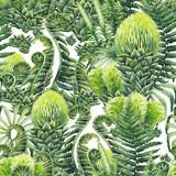 Watercolor prehistoric plants - 192593212