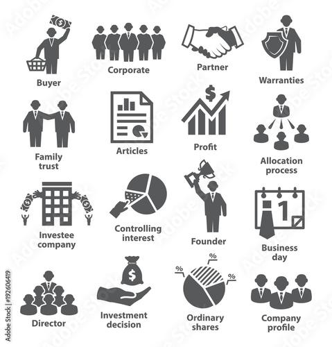 Fotografía  Business management icons Pack 38