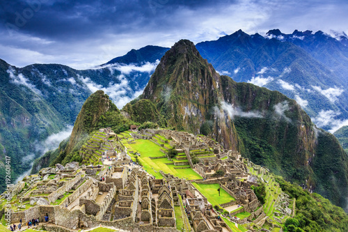 Canvas Prints American Famous Place Machu Picchu, Peru.