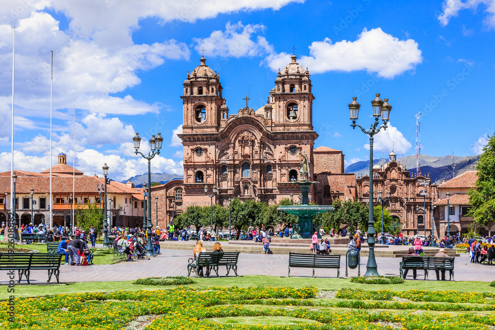 Fototapety, obrazy: Cusco, Peru. Plaza de Armas.