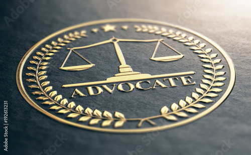 Golden Advocate Symbol Canvas Print