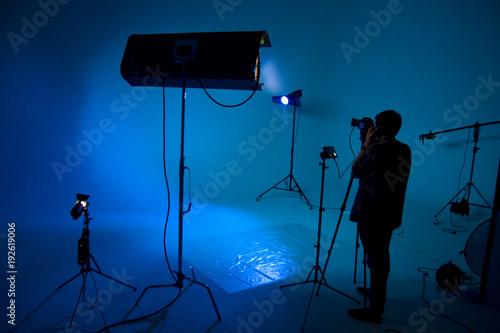 Fotografie, Obraz  Process of filmmaking, set, film crew