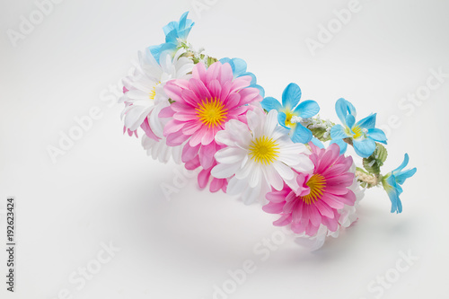 Tuinposter Bloemen Diy fabric wreaths flower
